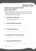 Grade 2 English Worksheet Write sentences